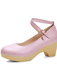 Women's Shoes Leatherette Spring / Summer / Fall Wedges / Heels Heels Office & Career / Dress / Casual Wedge Heel Buckle