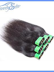 6Pcs 300g Lot 5A Cheap Indian Straight Human Hair 100% Human Hair Extensions Color1B