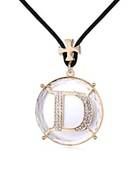 D Rhythm Happiness Long Sweater Necklace Plated with 18K Champagne Gold Crystal Clear CrystallizedCrystal Stones