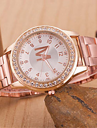 z.xuan женщин / мужчин стальной ленты аналогового кварц случайные часы