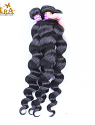 3pcs Lot 5A Unprocessed Brazilian Virgin Hair Loose Wave  Human Hair Extensions Natural Black Hair Weaves