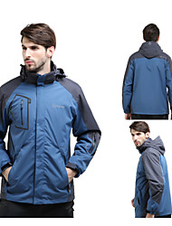 Outdoor Men Three in One Set of Two Ski Suit Jackets Warm Fleece Removable