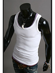 Men's Fashion Solid Slim Elastic Rib Vest