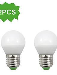 Ampoules Globe Décorative Blanc Chaud H+LUX™ 2 pièces Sol E26/E27 6 W 27 SMD 3022 400 LM AC 100-240 V