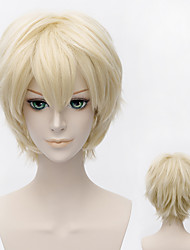 Fashion Blonde Short Straight Anime party Cosplay Full Wig