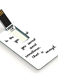 8GB In The End Design Card USB Flash Drive