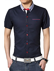 Men's Fashion Business Slim Short Sleeved Shirt