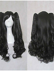 Stylish Black Cosplay Wig Synthetic Hair  Long Loose Wavy Animated Wigs Girl's Cartoon Wigs Party Wigs 012D