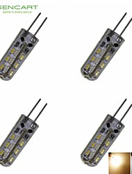 Bombillas LED de Mazorca Decorativa SENCART T G4 2W 24 SMD 3014 180-220 LM Blanco Cálido / Blanco Fresco DC 12 / AC 100-240 / AC 12 V4