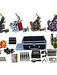 4 Guns Complete Tattoo Kit with Free Gift of 20 Tattoo Inks
