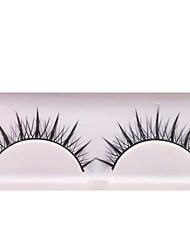 1 Pairs Black Fiber False Eyelashes