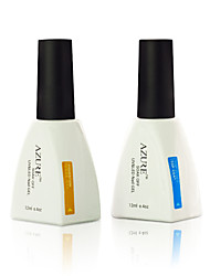 Azure 2Pcs/Lot UV Gel Base & Top Coat Nail Kit Nail Polish(12ml, Base&Top Coat)