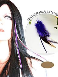 100% real extensão do cabelo penas naturais de ordem grizzly mix extensões galo de penas 10 peças / lote grf007