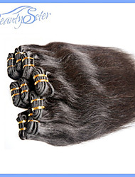 6pcs 300grams beaucoup 5a pas cher cheveux humains droites 100% des extensions vierges péruvien de cheveux humains color1b aucun rejet