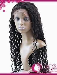 Top Quality Brazilian Virgin Human Hair Lace Front Half Wig 130% #1 #1B #2 #4 Deep Wave Glueless Wigs