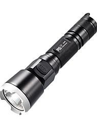 NITECORE P15 430 Lumens CREE XP-G2 R5 LED HAIII Tactical Flashlight Torch Light (1X18650/2XCR123, Black)