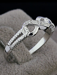 Genuine 925  Sterling Silver Jewelry Designer 8 Brand Rings Wedding Rings Lady Infinity Rings