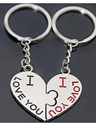 Heart Kiss Romantic Wedding Key Ring Keychain for Lover Valentine's Day(One Pair)
