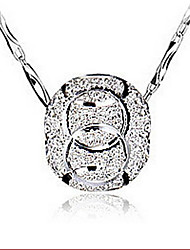 Sterling Silver Necklace Pendants Wedding/Party/Daily/Casual (Only Pendent)