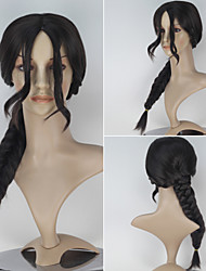 Movie The Hunger Games Women's Long Braid Dark Brown Color Anime Cosplay Wig