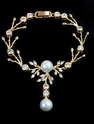 New Design Casual Gold Plated Pearl Bracelet Bracelet Amp Bangles