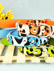Leopard PU Collar For Dogs