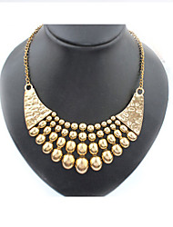 Exaggerated fashion metal hot shorts necklace restoring ancient ways