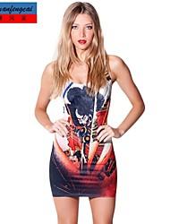 abito senza maniche casuale calda del vestito bodycon stampa asiatica sottile di cmfc®women
