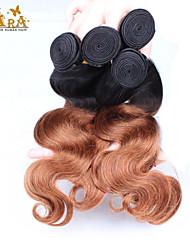 "3Pcs/Lot 10""-24"" Unprocessed Brazilian Virgin Hair Two Tone 1b/30 Ombre Body Wave Human Hair Weft"