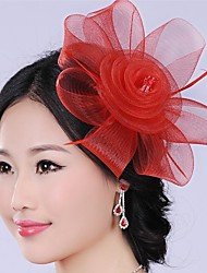 Graceful Fashion Exaggerated Hand made  Flower  Pearl  Bridal Headpiece