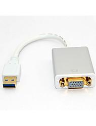 interface USB3.0 carte graphique VGA HD externes pour affichage du projecteur 1080p