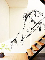 Grand cheval pvc stickers muraux