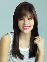 European and American  Fashion Long Black Straight Hair Wig