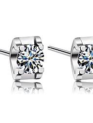 pure diamant S925 verzilverde oorstekers handgemaakte cadeau