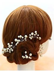 6pcs Pearl Wedding Headpieces Hairpins