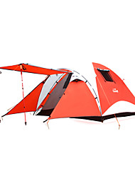 Hewolf Moistureproof WaterproofPolyester One Room Tent for 3-4 Person 1900 Red/Light Green