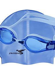 yingfa gel des lunettes de natation unisexe bleu anti-buée / imperméable / taille réglable / anti-uv / anti-dérapant sangle pc silice
