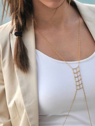 Women's Hot Unique Charming Jewelry Gold Accessories Street Beat Swastika Shape Tassel Body Chain