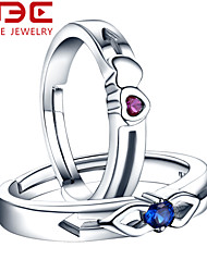 NBE Sterling Silver/Zircon Ring Cupid Couple Rings/Midi Rings/Band Rings/Statement Rings Wedding/Party/Daily/Casual 1pc