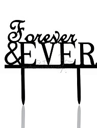 Cake Toppers Acrylic Forever & Ever Cake Topper