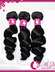 "Free Tangle Remy Brazilian Virgin Human Hair Extension 1B Black Loose Wave Human Hair Weave 300g/lot 12""-30"""