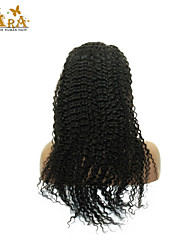 "8""-26"" Indian Virgin Hair Kinky Curly Glueless Full Lace Wig Color Black With Baby Hair for Black Women"