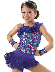 Jazz Dance Dancewear Adults' Children's Sequin Jazz Outfit Kids Dance Costumes