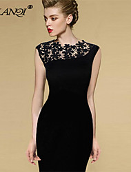 PROMOTION Elegant and Sexy Lace stitching show thin Dress SV003709
