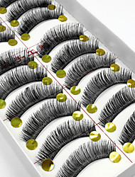 10 Pairs High Quality Natural Long Black False Eyelashes Handmade Full Bushy Lashes Makeup Eyelashes Extensions