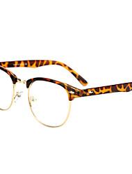 LianSan Metal Round Half-Rim Eyeglasses