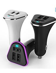 мини три USB зарядка 5В 12В 6800ma сигареты автомобиля зарядное устройство для GPS планшетных мобильных телефонов