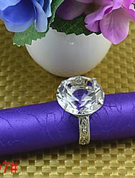 6pcs bague en diamant de dentelle de serviette de 4cm