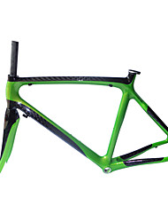 Neasty Brand 700C Full Carbon Fiber Frame and Fork 12K Pearl Green Color bicycle frame 52/54/56CM 18C-23C Tire