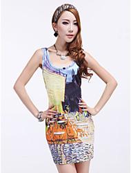 Women's Fashion Oil Painting Dress